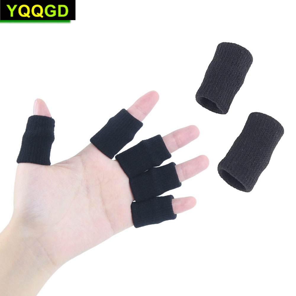 10Pcs/Set Finger Sleeves Support Thumb Braces Elastic Compression Protector Braces To Relieve Pain Calluses Arthritis