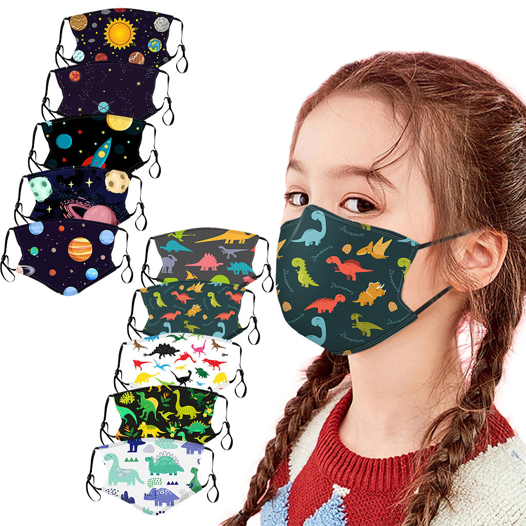 Bandana Headband 10pc Children Kids Children Outdoor Cotton Mouth Masks Face Masks Reusable Hijab Mask Маска Для Лица Маска