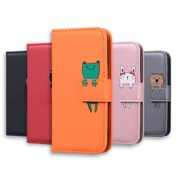 luxury Cartoon Leather Wallet Cover For Sumsung Galaxy J730 J530 J330 J4 J6 Plus 2018,magnetic Flip Stand Phone Case Etui Bag 1