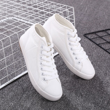 2019 New Women Fashion Canvas Shoes Vulcanize High Topshoes