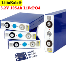 Liitokala 3.2V 105Ah battery pack LiFePO4 Lithium iron phospha Large capacity 105000mAh Motorcycle Electric Car motor batteries