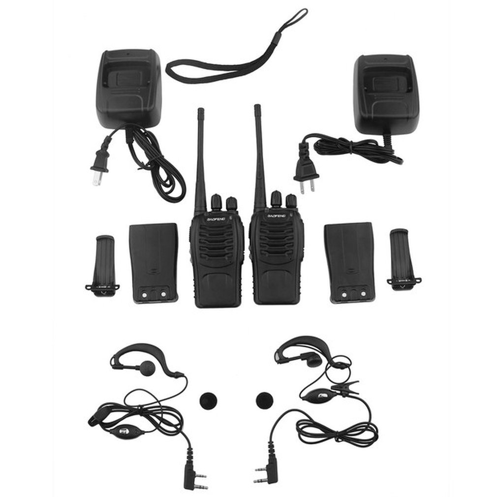 2pcs/lot Baofeng BF-888S Walkie Talkie UHF Two Way Radio 888s UHF 400-470MHz 16CH Portable Transceiver Comunicador
