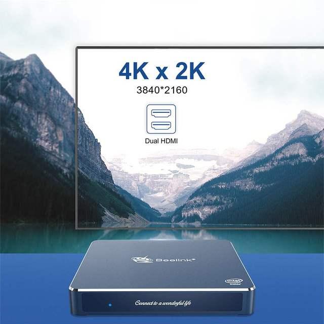 Beelink Gemini M Mini PC Windows 10 TV BOX 4GB 8GB 16 GB y GB Dual 2 HDMI J4125 Intel lago actualiza 1000M LAN 5,8G WIFI bluetooth