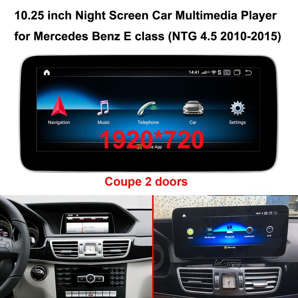 10.25 inch 1920*720 Android 10.0 GPS Navigation Car Multimedia player for <font><b>Mercedes</b></font> <font><b>Benz</b></font> E class Coupe 2 doors W212 (NTG 4.5) image