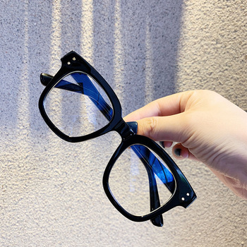 Feishini 2020 Computer Glasses Square Men Rays Radiation Gamin Eyewear Plastic Unisex Anti Blue Light Glasses Women Optical image