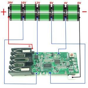Image 5 - M18B ליתיום סוללה פלסטיק מקרה טעינת הגנת מעגלים עבור מילווקי 18V M18 48 11 1815 3Ah 4Ah 5Ah PCB לוח פגז