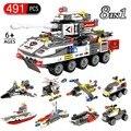 491 шт 8 в 1 танк строительные блоки Совместимые городские кирпичи развивающие игрушки для детей