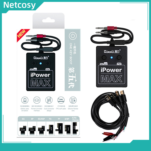 iPower MAX 5th Gen Power Supply iPower Test Cable For iPhone 6G/6S/6P/6SP/7/7P/8G/8P/X/XS/XS max DC Power Control Test Cable