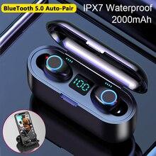 True Bluetooth Wireless Earbuds Bluetooth 5.0 Earphone HIFI Stereo Sport Wireles