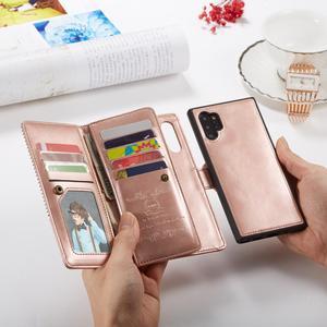Image 3 - 9 カードホルダー財布三星銀河注 10 プラス注 9 S10 S9 S8 プラス S10E フリップ革取り外し可能な磁気電話ケース