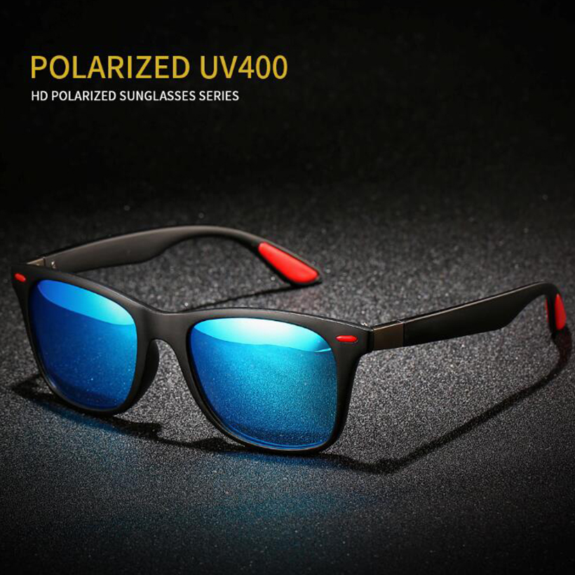 Men Polarizing Sunglasses Men Fashion Square Ladies UV400 Men's Glasses Classic Retro Brand Design Driving Sunglasses image