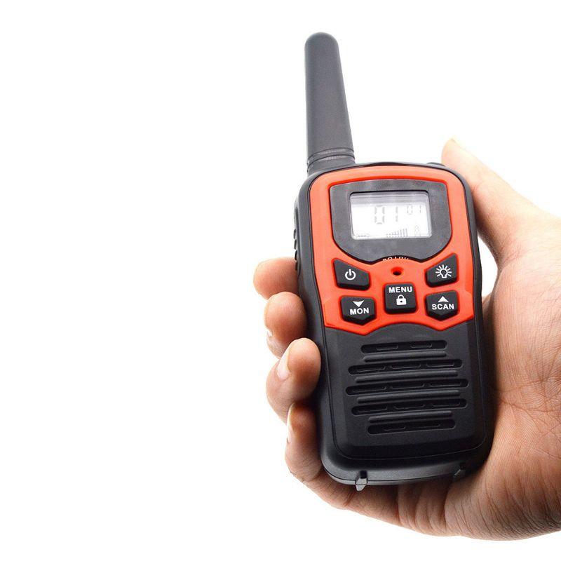 Walkie Talkies For Adults Long Range 4 Pack 2-Way Radios Up To 5 Miles Range In Open Field 22 Channel FRS/GMRS Walkie Talkies