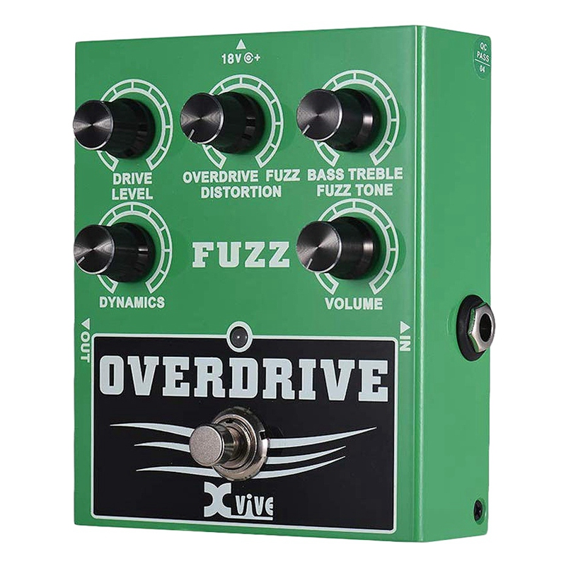 XVIVE Guitar Pedal Overdrive Fuzz W2 Guitar Effect Pedal Bass Treble Control Dynamic Response Adjustable True Bypass image