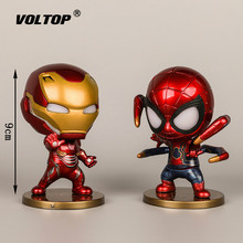 4pcs/set Super Hero Model Car Ornaments Accessories for Girls Interior Dashboard Decoration Doll with Light