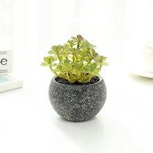 Зеленые искусственные суккуленты растения для украшения дома
