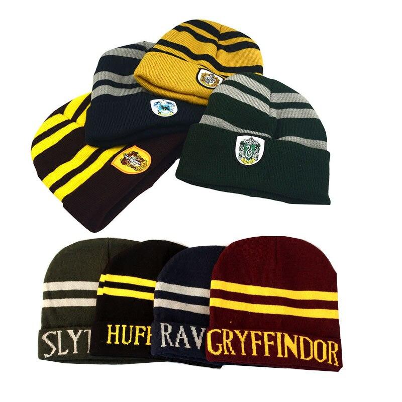 Волшебная школьная Кепка для косплея на Хеллоуин, шапка для косплея, зимний шейный платок Ravenclaw Slytherin Hufflepuff, шляпа для косплея