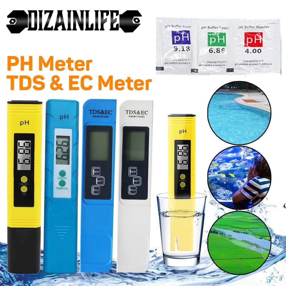 PH-метр TDS EC с ЖК-дисплеем, измеритель качества воды и чистоты, ручка, для гидропонных систем, подходит для аквариумов