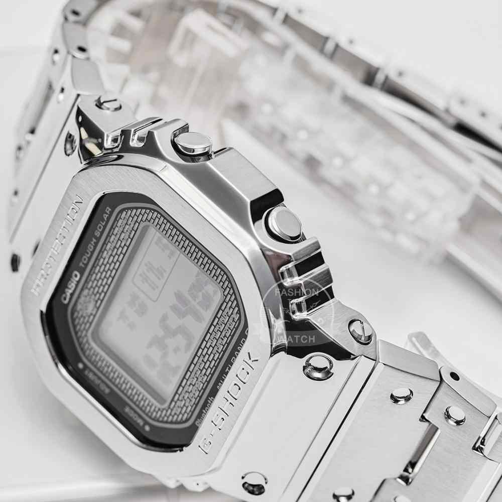 Casio ดูสมาร์ทผู้ชาย g ช็อกแบรนด์ชั้นนำสุดหรูชุด 200 เมตรกันน้ำกีฬานาฬิกาควอตซ์ LED ดิจิตอลดำน้ำทหารผู้ชายนาฬิกา g- Shock พลังงานแสงอาทิตย์บลูทู ธ วิทยุควบคุมนาฬิกาข้อมือ relogio masculino reloj hombre erkek kol saati