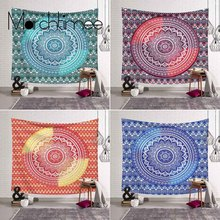 Witchcraft Boho Decor Mandala Tapestry Wall Hanging Psychedelic Hippie Wall Tapestry Blanket Yoga Shaw Thin Bohemian Beach Towel