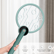 Bug Zapper Mosquito Killer USB Rechargeable Electric Fly Swatter UV Mosquito Trapper Powerful 2200V Grid Safety 3-Layer Mesh