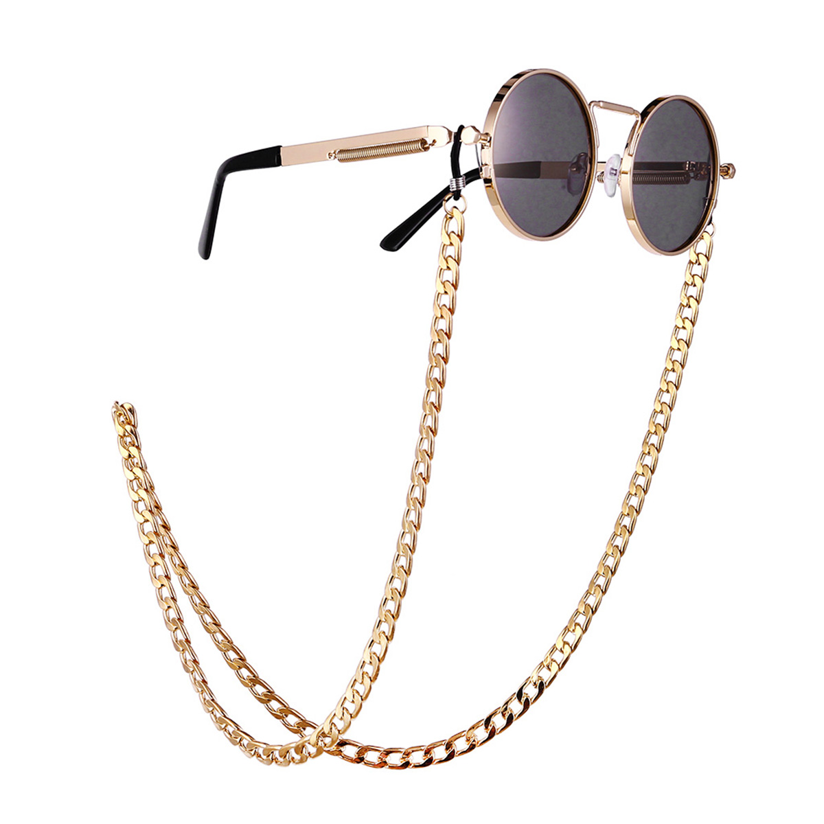Glasses Chain Jewelry Hip Hop Style Punk Cool With Thick Gold Exaggerated Glasses Chain 2019