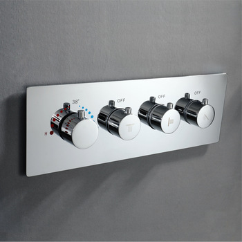 Thermostatic Shower Faucet Mixing Valve Brass Concealed Valve Wall Mounted Shower Controller For Showerheads