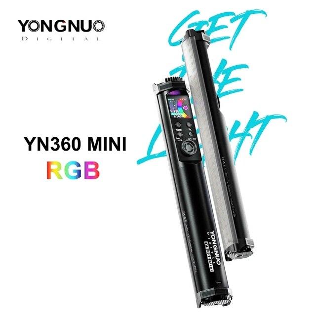 Yongnuo YN360 mini Portable Light tube RGB Full color Fill Light Photography Lighting Stick Video Light app control vs 6C