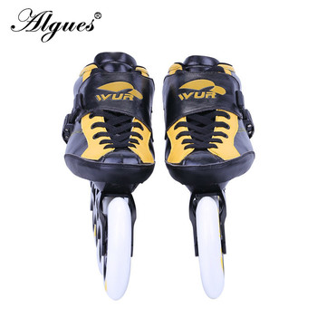 Single Row Carbon Fiber Roller Skates Professional Competition Racing Shoes Adult Large Roller Skates Can Be Customized adjustable carbon fiber shoes for kids speed skates shoes roller skating children inline skate boots professional