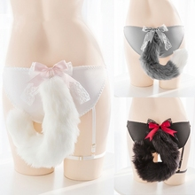Cute Flexible Fox Tail Sexy Cotton Panies Erotic Toys Chastity Cute Open Crotch Underwear Sexy Toys for Women Adult Toy Sex Shop
