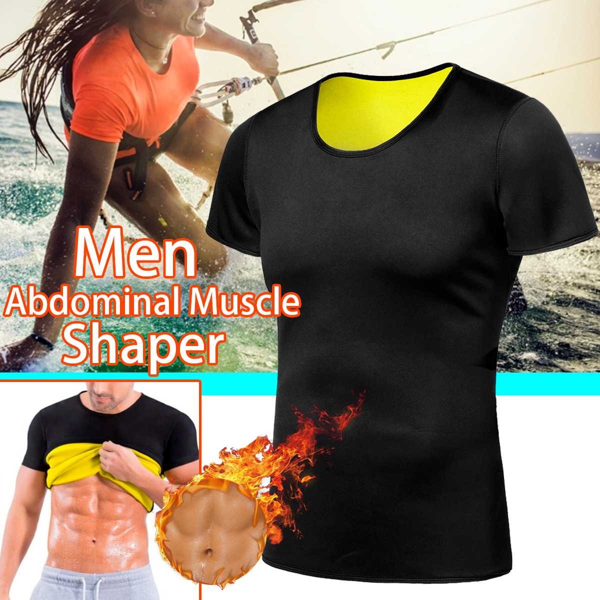 T-Shirt Wear Body-Shaper Sweat Sauna Sport-Clothes Sharper Slimming Yoga Tummy Fitness