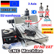 【Ue free VAT】 bureau 3 axes USB Mach3 500W 3040Z-DQ vis à billes 3040 CNC routeur graveur/gravure fraiseuse de découpe 220V
