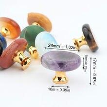 Presente caixa de jóias decoração alça gaveta de cristal halo natural pedra botão gabinete maçaneta da porta acessórios