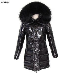 Image 1 - OFTBUY 2020 Winter Jacket Women Real Fur Coat natural Raccoon Fur Collar Long Parka Duck Down jacket waterproof Streetwear brand