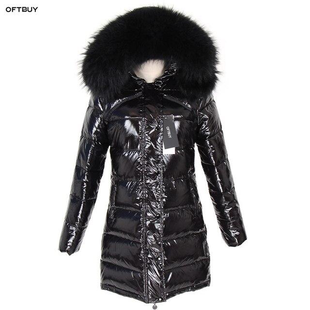 OFTBUY 2020 Winter Jacket Women Real Fur Coat natural Raccoon Fur Collar Long Parka Duck Down jacket waterproof Streetwear brand