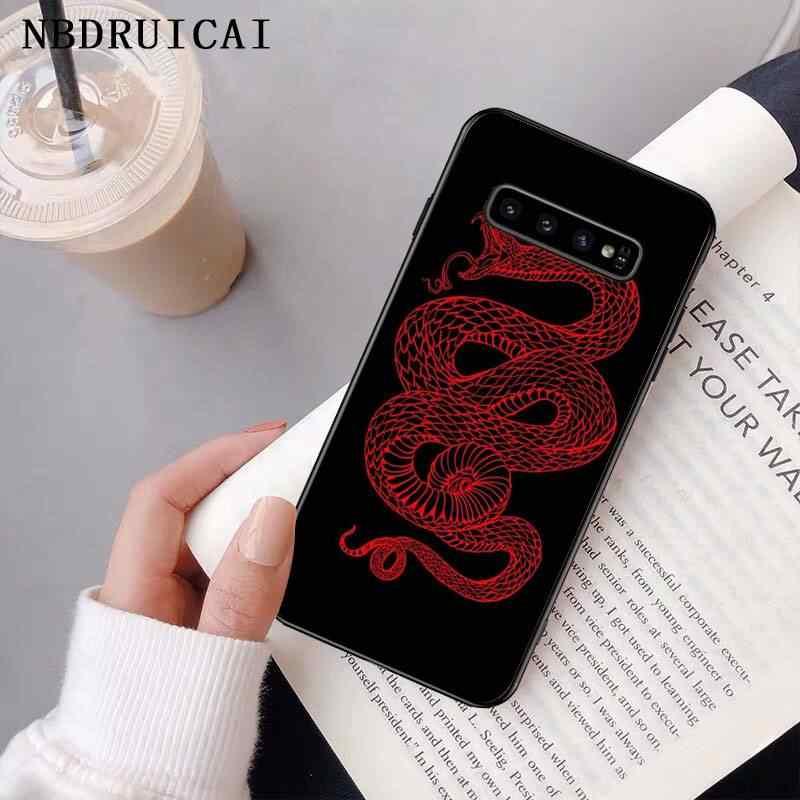 NBDRUICAI יד בעלי החיים נחש פרח דפוס טלפון Case כיסוי עבור סמסונג S9 בתוספת S5 S6 קצה בתוספת S7 קצה S8 בתוספת S10 E S10 בתוספת