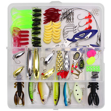 Buy 101 Multifunctional Fish Bait Sets Cross-border Fish Bait One Fishing Gear Jigging Lure String Crystals Soft Plastic Worms directly from merchant!
