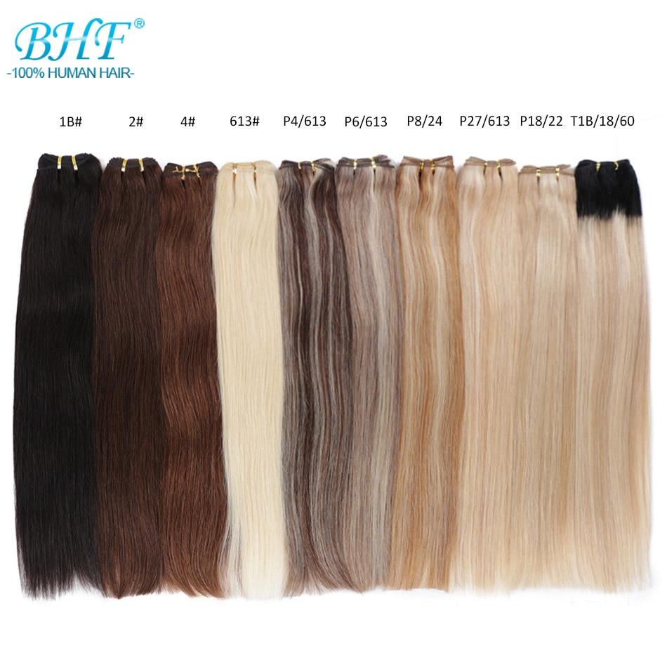 Прямые европейские волосы Remy BHF, Платиновые светлые 100% человеческие волосы для наращивания от 18 до 26 дюймов