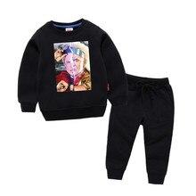 Children's Back to The Future Print Cotton Girl Kids Cotton Pullover Tops Baby Boys Autumn Clothes Boys Sweatshirts недорго, оригинальная цена