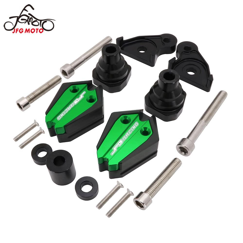 1Pair Frame Slider Protector Guard Crash Pads For KAWASAKI ZX10R ZX-10R ZX 10R 2011 2012 2013-2017 Engine Protection Sliders image