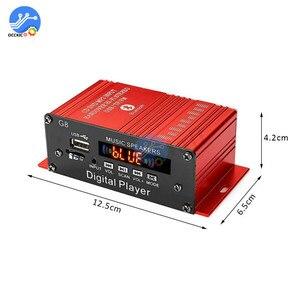 Image 2 - 200W 12V Auto Audio Bluetooth Verstärker HIFI Home Stereo FM Radio USB AUX TF Led bildschirm 2CH Power verstärker mit Fernbedienung