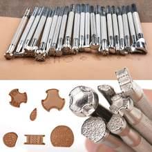 20x skórzane narzędzie do drukowania rzeźba ze stopu samodzielne wytwarzanie dziurkacz ręczny znaczek rzeźba drukowane DIY metalowe skórzane siodło robocze Staming