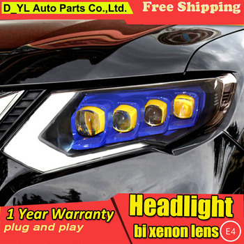 Car Styling for Nissan X-Trail Headlights 2017-2019 Nissan X-Trail LED Headlight LED DRL LED Matrix Lens turn light