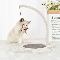 Jormel 1pc Pet Cat Toys Chew Teeth Care Chewing Toys Interactive Tree Tower Shelves Climbing Frame Scratching Post