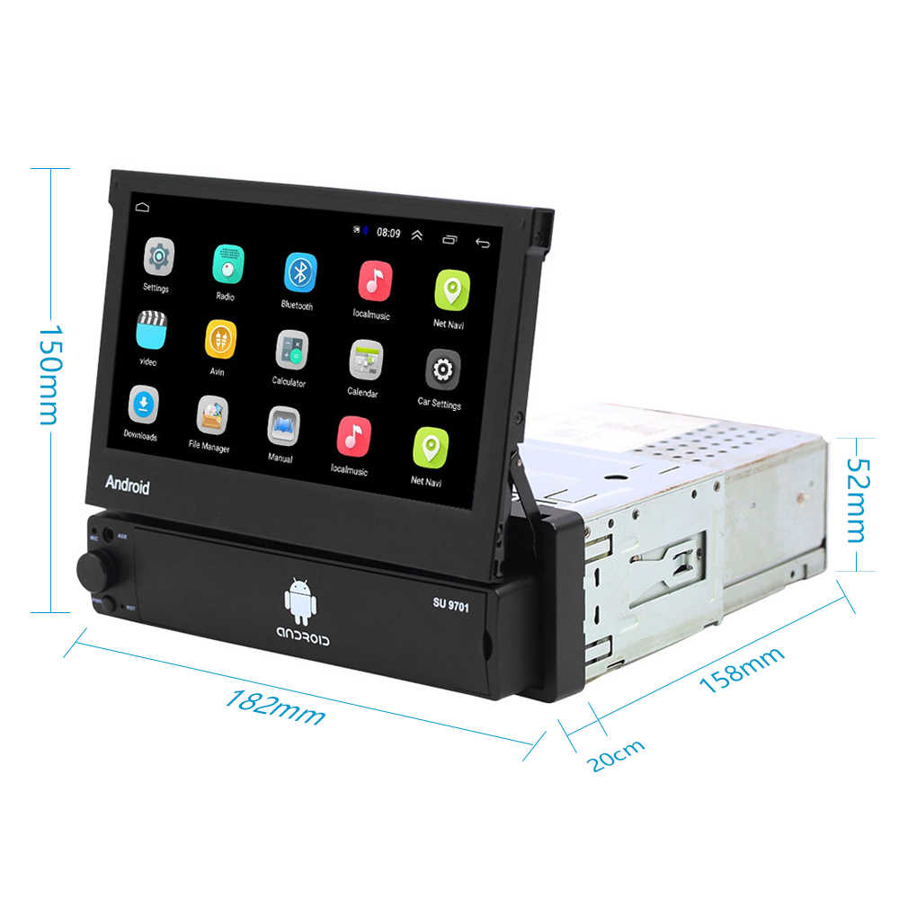 1 din アンドロイド 8.1 行くクアッドコア車の Gps ナビゲーションプレーヤー 7 ''ユニバーサルカーラジオ WiFi Bluetooth MP5 マルチメディアプレーヤー