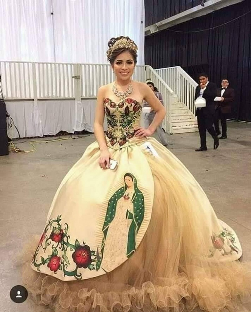 New Design Print Pattern Quinceanera Dresses Lace Up Sweet 16 Dress For 15 Years Formal Prom Dress Party Pageant Gown Custom