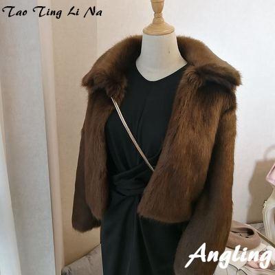 2019 New Style High-end Fashion Women Faux Fur Coat S96