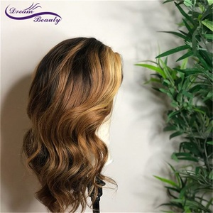 Image 3 - Highlight Lace Front Human Hair Wigs With Baby Hair 13*4/13*6 Remy Body Wave Lace Wig For Women
