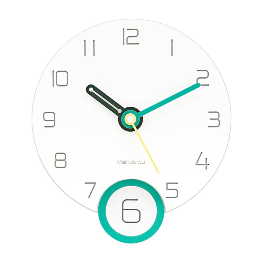 Dessin animé horloge murale Design moderne enfants acrylique chambre horloge murale pendule nordique mignon Relojes Pared salon horloge WKP528