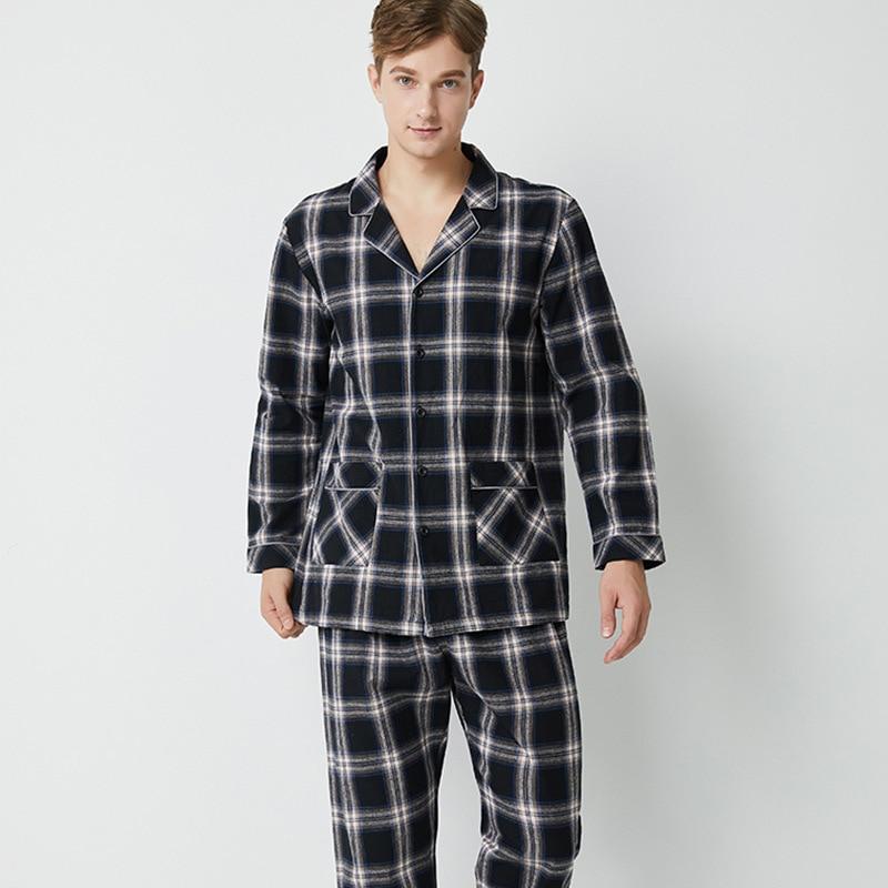 100% Cotton Hight Quality Thick  Pajamas Men  Sleepwear Loungewear Men L-2xl 1690