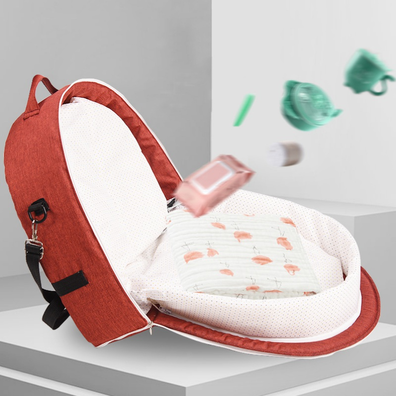 Breathable Infant Sleeping Basket Portable Bassinet  Baby Foldable Baby Bed Travel  Sun Protection Mosquito Net For Baby New